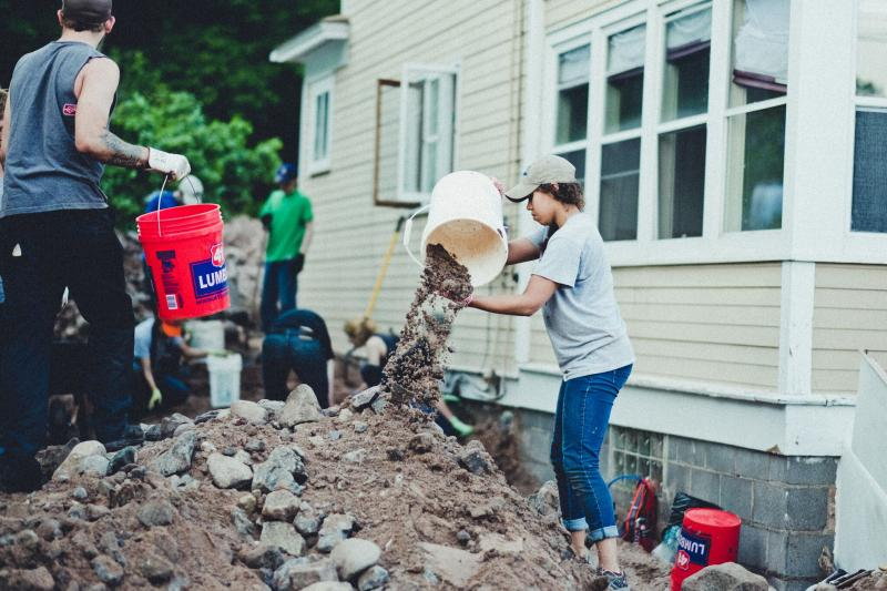 houghton county michigan flood relief volunteers